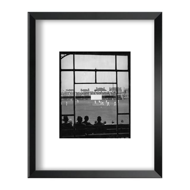Cricket Match at Trent Bridge, Circa 1932 - Framed Print - Black Frame