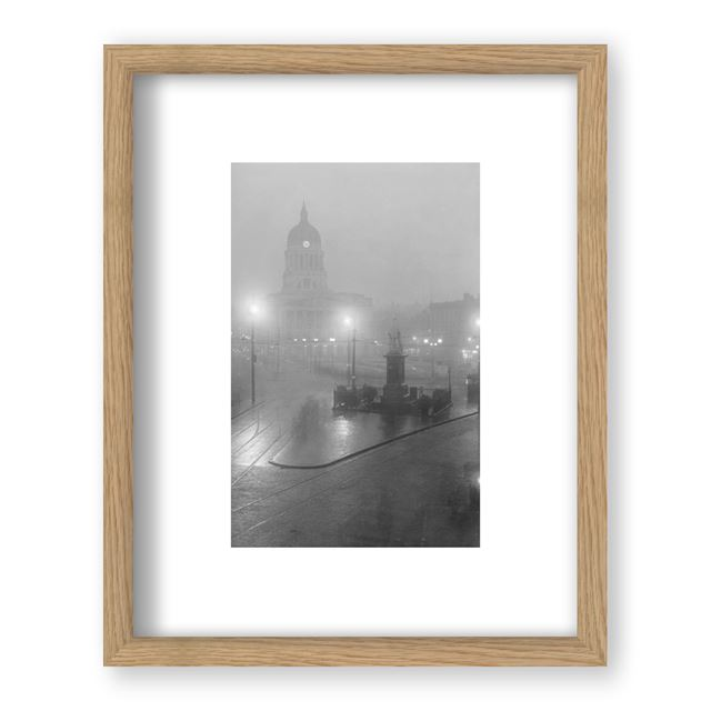 Council House Arcade, Old Market Square, Nottingham, Circa 1929 - Framed Print - Black Frame