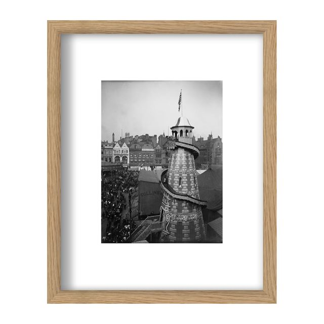 Goose Fair, Market Place, Nottingham, Circa 1914 - Framed Print - Black Frame