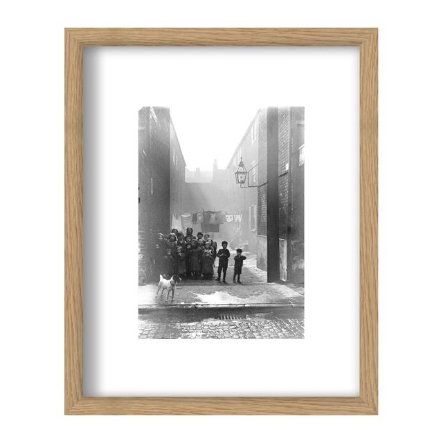No Man`s Yard, Newington Street, Sneinton, Nottingham, c 1912 - Framed Print - Black Frame