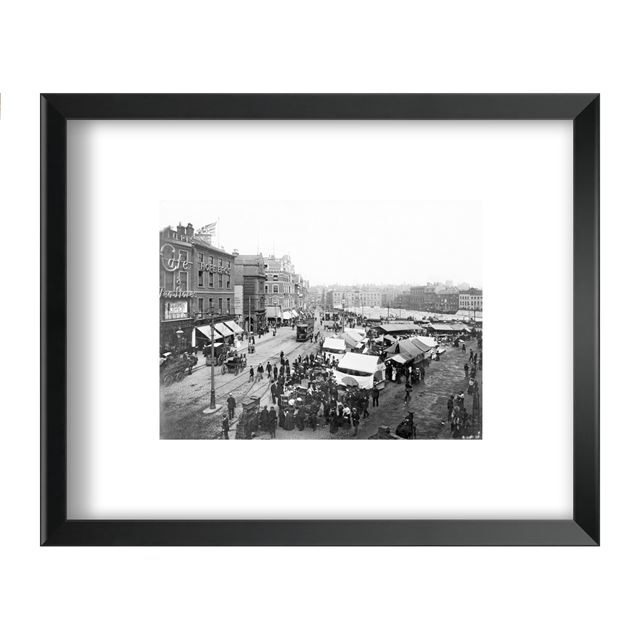 Market Day, Nottingham, 1904 - Framed Print - Black Frame