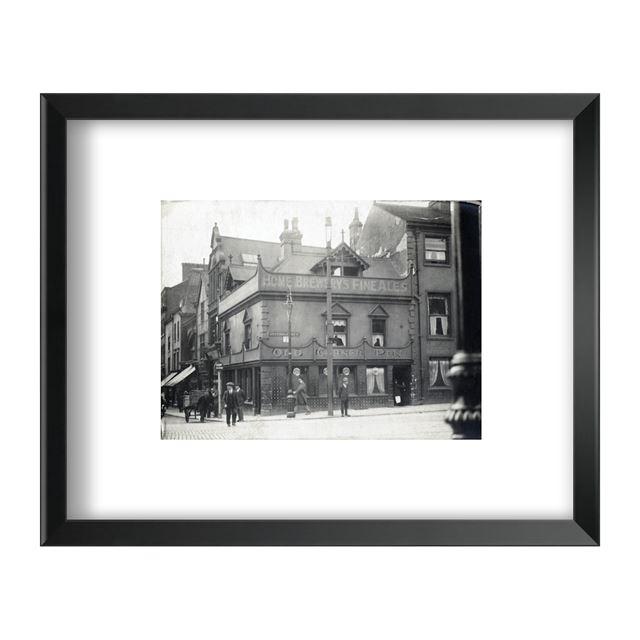 Old Corner Pin, Upper Parliament Street/Clumber Street junction, Nottingham, 1926 - Framed Print - Black Frame