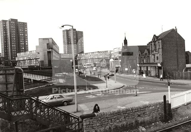 'Baseford flats' Council housing, David Lane, Basford