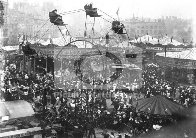 Goose Fair, Market Place, Big Wheel 1907