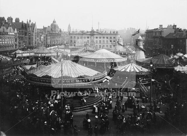 Goose Fair, Market Place, 1906