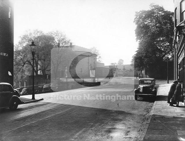 Nottingham Castle Gateway from Friar Lane c 1950