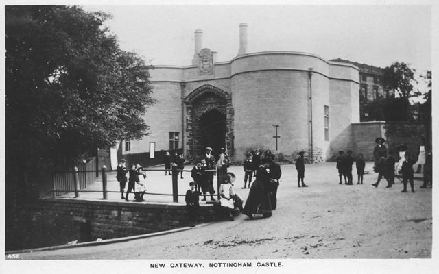 Nottingham Castle grounds, The New Gateway after the 1908 restoration