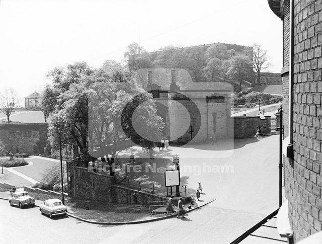 Nottingham Castle and Gateway, 1960