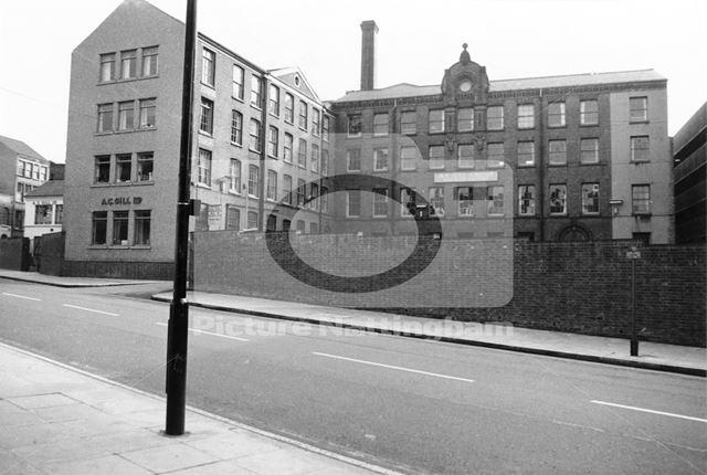 A C Gills Ltd, Fletcher Gate, Lace Market, Nottingham, 1975