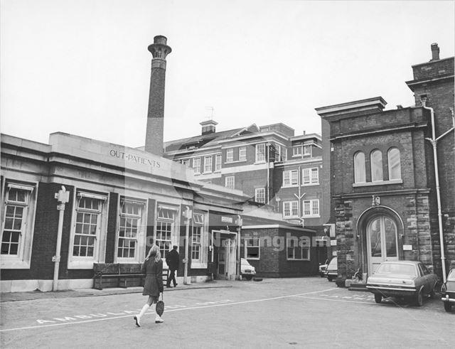 Out Patients entrance - Children's Hospital, Forest House, Chestnut Grove, 1976