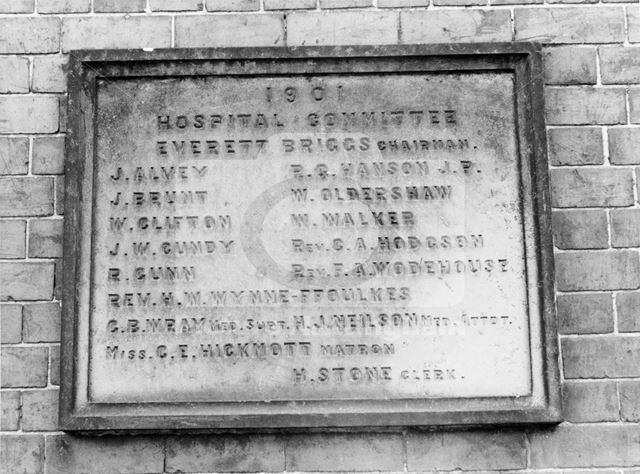 Basford Hospital - Stone plaque