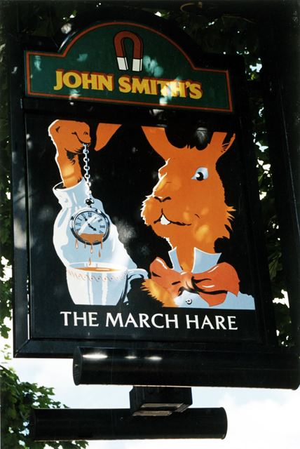 The March Hare Public House - sign