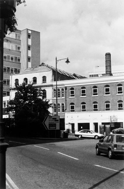 Junction of Maid Marian Way and Friar Lane looking North towards St James Street, Nottingham, 1997