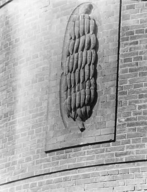 Pearson and Sons Ltd, Wholesale fruit merchants, Nottingham - detail of carved bananas