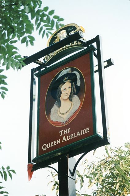 The Queen Adelaide Public House - Sign