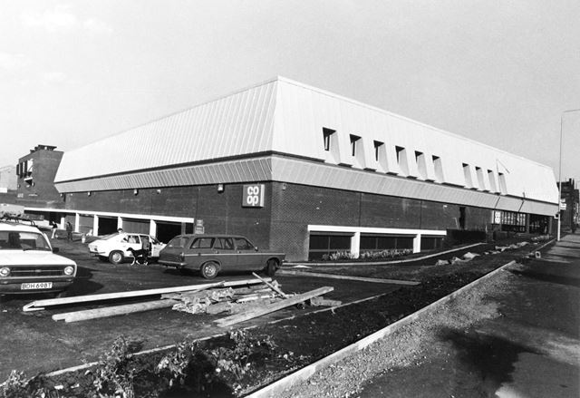 Greater Nottingham Co-operative Society supermarket, Carlton Road, St. Ann's, Nottingham, 1980