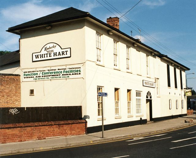 The White Hart Inn showing original mounting blocks - Lenton (The old Lenton Coffee House and Pevere