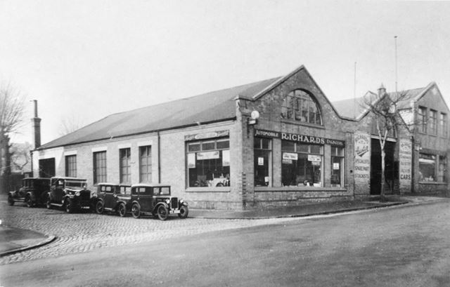 Richard's Garage, Hucknall Road, Carrington, Nottingham, 1931