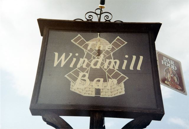 The Windmill Bar -sign