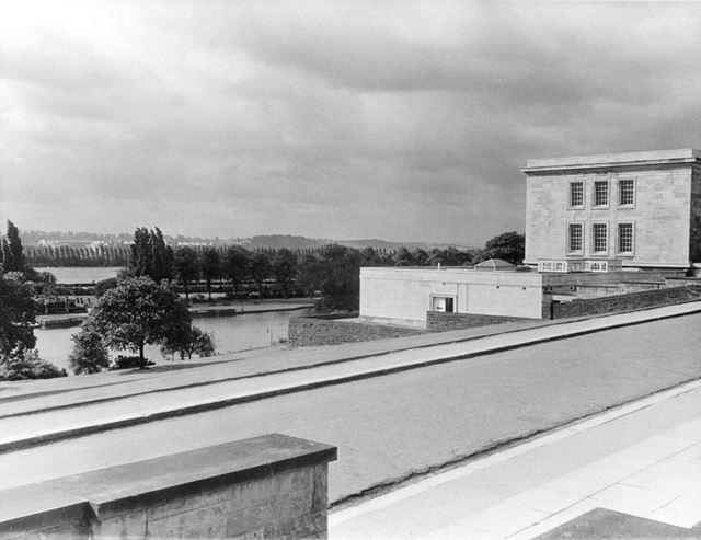Trent Building and Highfields park from the steps of the Portland Building - University of Nottingha