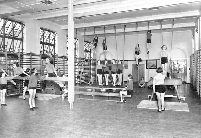 William Crane Schools - Girls Gymnastics class in the Gymnasium