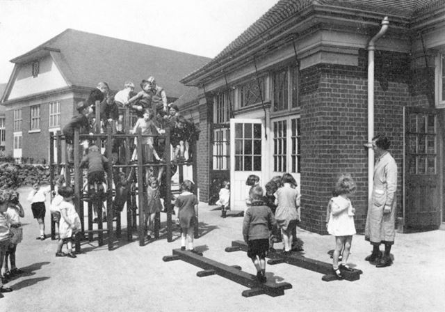 William Crane Schools - Nursery children playing in the playground