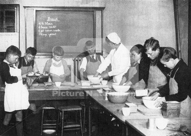 William Crane School - domestic science for boys