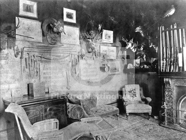 Gun Room, Bulwell Hall, Bulwell, Nottingham, c 1900