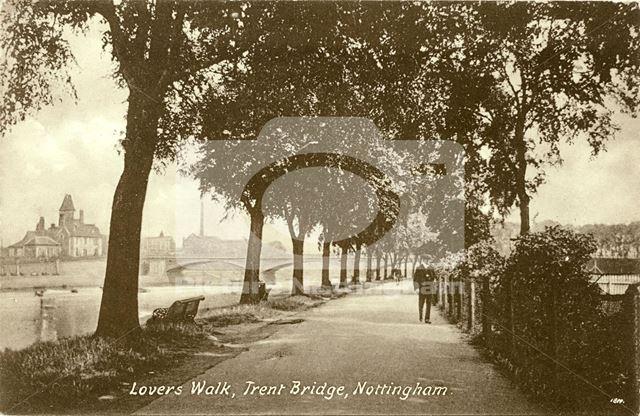 'Lovers Walk' on the River Trent Embankment, West Bridgford