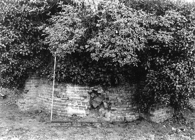 Remains of the Brick Base of Harrington's Post Mill, Grassington Road, Radford, Nottingham, 1983