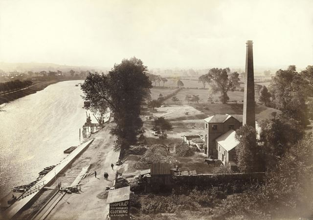 The River Trent and Pumping Station, near Trent Bridge
