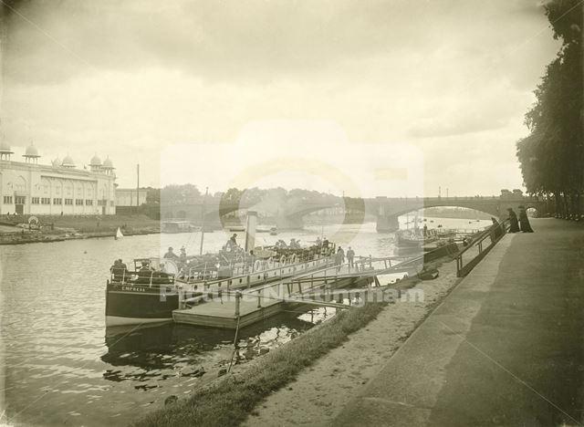 Pleasure steamer 'Empress' on the River Trent, Trent Bridge, Nottingham, 1903-4