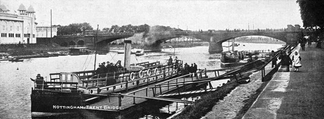 Pleasure steamer 'Empress' on the River Trent, Trent Bridge, Nottingham, c 1904