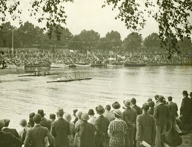 Rowing race at a regatta on the River Trent