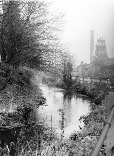 Radford Colliery, seen from the River Leen