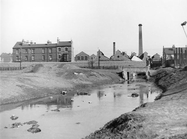 Vernon Road bleaching and dyeing works, showing Day Brook