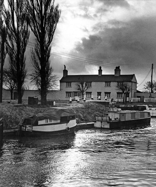 Beeston Canal Lock keepers cottages at the junction with the River Trent