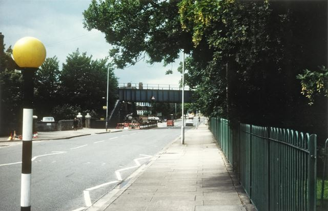 Old LMS Railway Bridge shortly before demolition