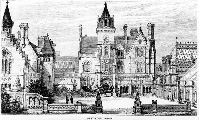 Bestwood Lodge, Bestwood Park, Bestwood, Nottingham, c 1897