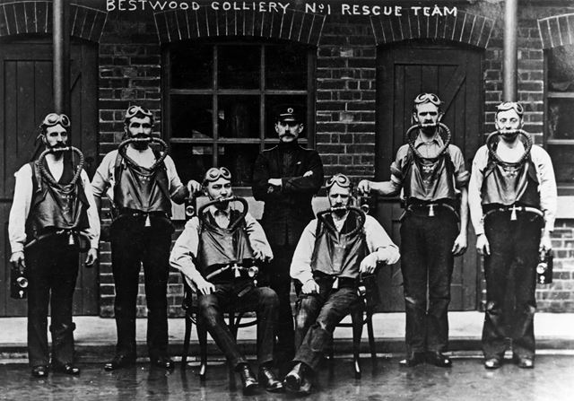 No.1 Rescue Team at Bestwood Colliery, Bestwood, Nottingham, 1911
