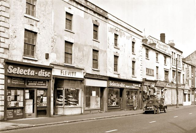 Selecta-disc and Flewitts Bakers shop, Arkwright Street