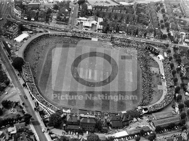 Trent Bridge Cricket Ground -aerial view of test match
