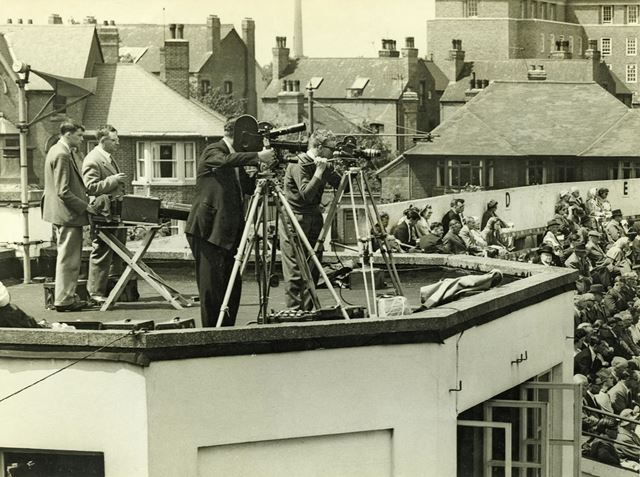 Cameras at Trent Bridge Cricket Ground - Including 'Big Bertha' the 36 inch long lens worked by Pat