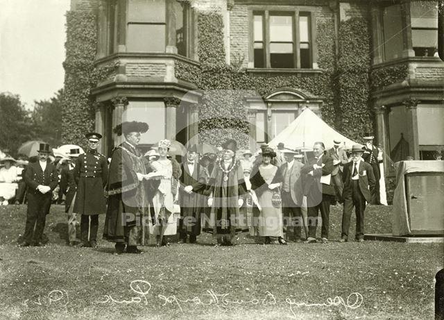 Woodthorpe Grange - Opening ceremony 1922