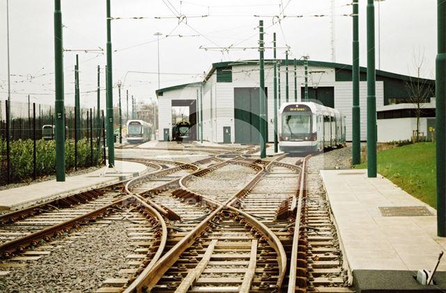 Nottingham Express Transit -tram depot
