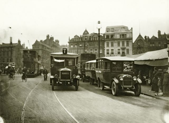 Odd selection of buses (used during the General Strike ?)