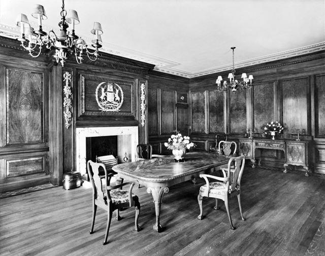 Interior view showing the Lord Mayor's Parlour, Council House, Old Market Square, Nottingham, 1929