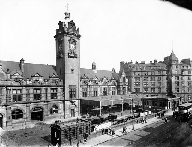 Victoria Railway Station and the Victoria Station Hotel, Milton Street, Nottingham, 1930