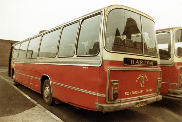 A Barton's Leyland Leopard bus waiting on the coach park (formerly Huntingdon Street Bus Station)