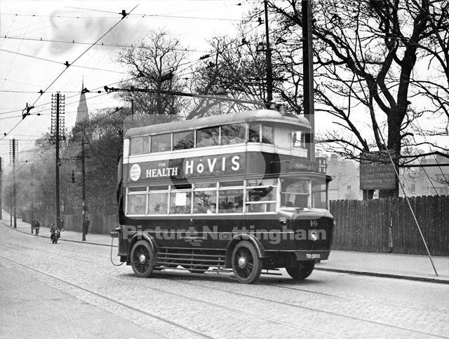 A Nottingham Corporation Trolley Bus - 1932